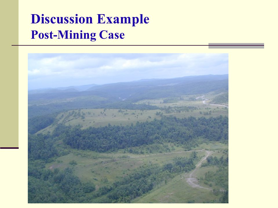 Discussion Example Post-Mining Case