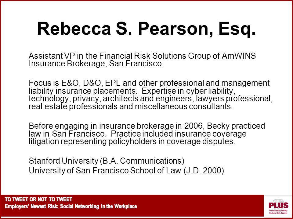 Rebecca S.Pearson, Esq.