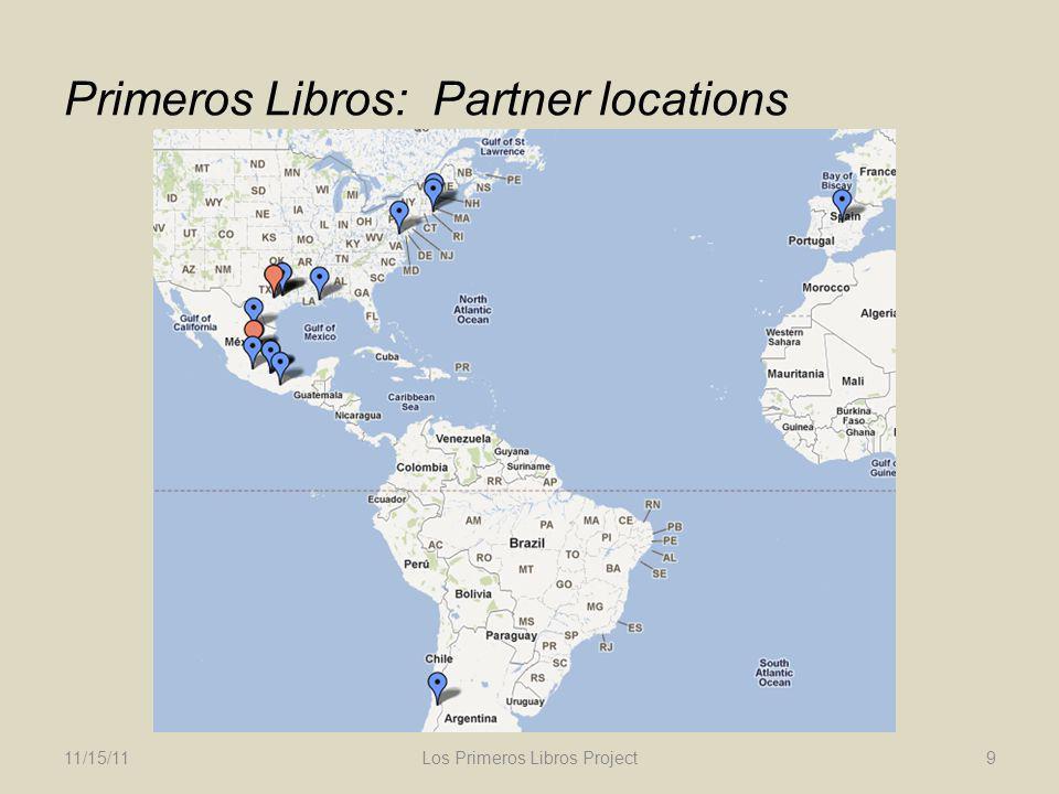 Primeros Libros: Partner locations 11/15/11Los Primeros Libros Project9