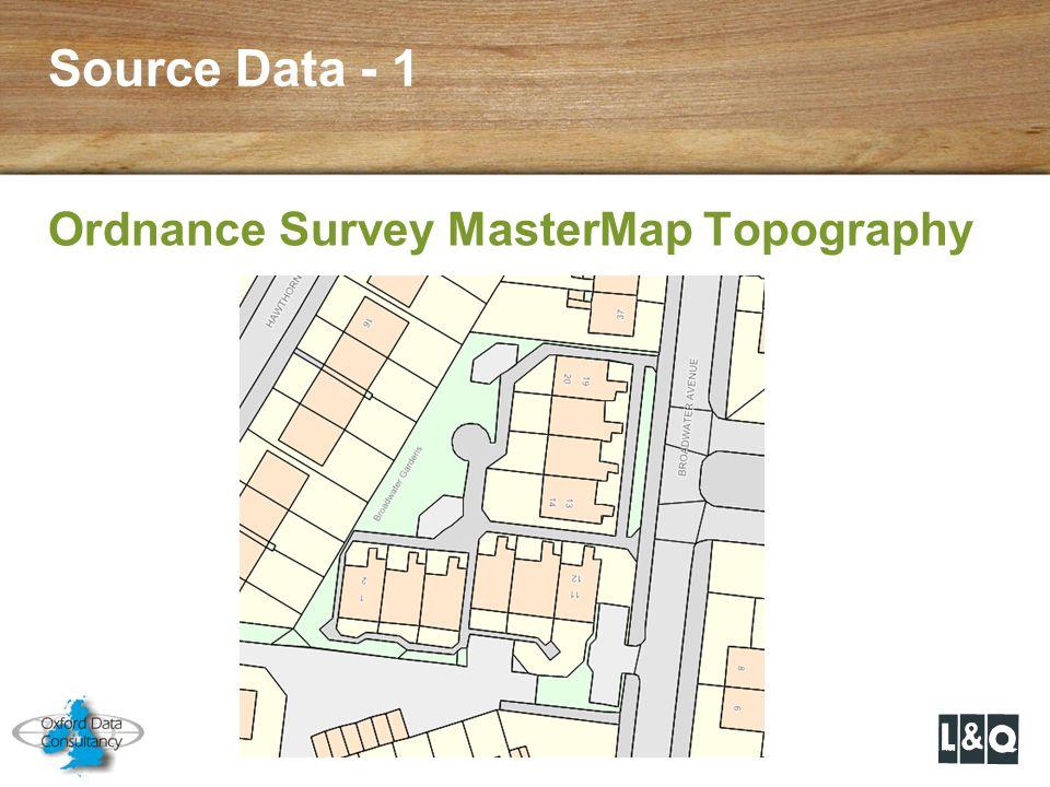 Source Data - 1 Ordnance Survey MasterMap Topography