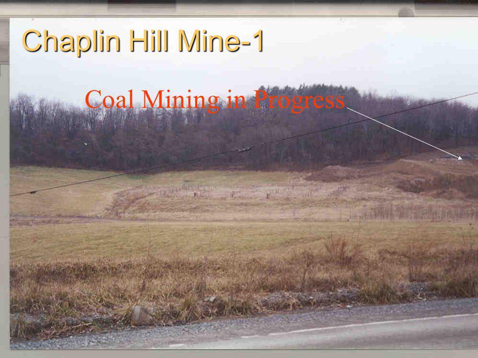 Chaplin Hill Mine-1 Coal Mining in Progress