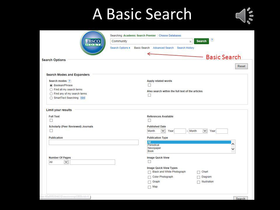 General Search Select the database(s) you want to search