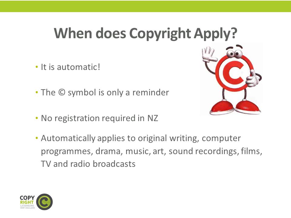 COPYRIGHT OWNERSHIP Who owns the rights to a piece of published work?