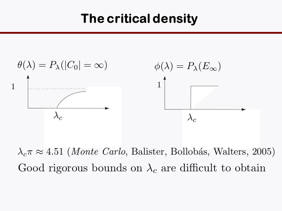 The critical density