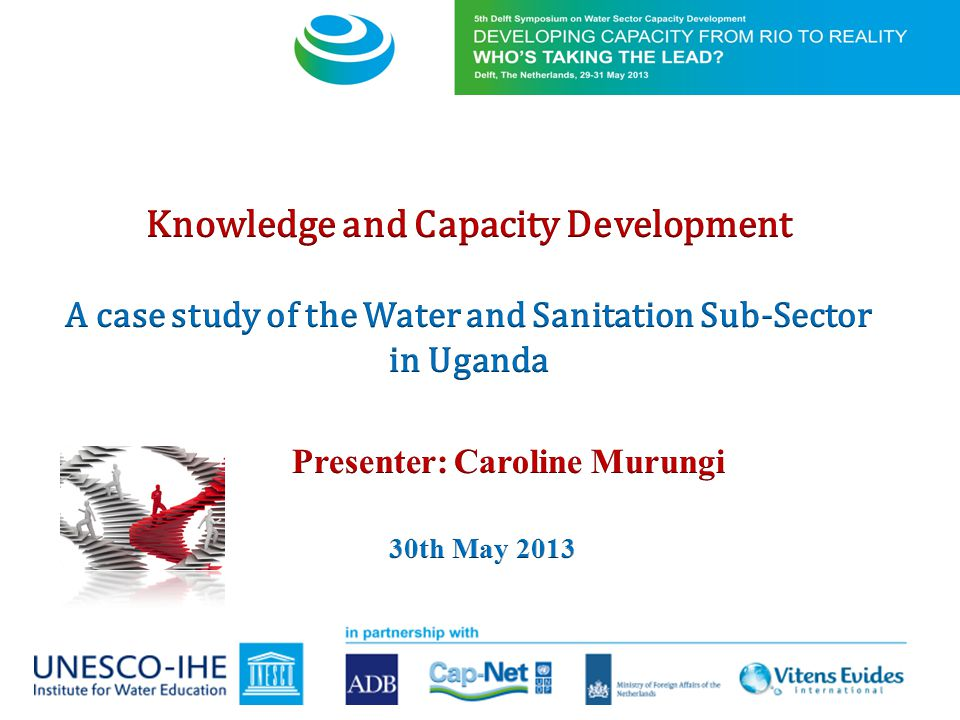 1)Introductory Information a) Background information b)Institutional arrangement of the water sector in Uganda 2) Research methodology 3)Knowledge creation and transfer with focus on; a) Functionality of the sector b)How is K & CD organized and c)Challenges encountered 4)Leadership in the sector a)Step by step guide in Actor Assessment b)Application of AAM c)Overall analysis of actors contribution 5)Lessons learnt, Innovations, study limitations & conclusions 6) Proposition providing basis for discussion based on the findings