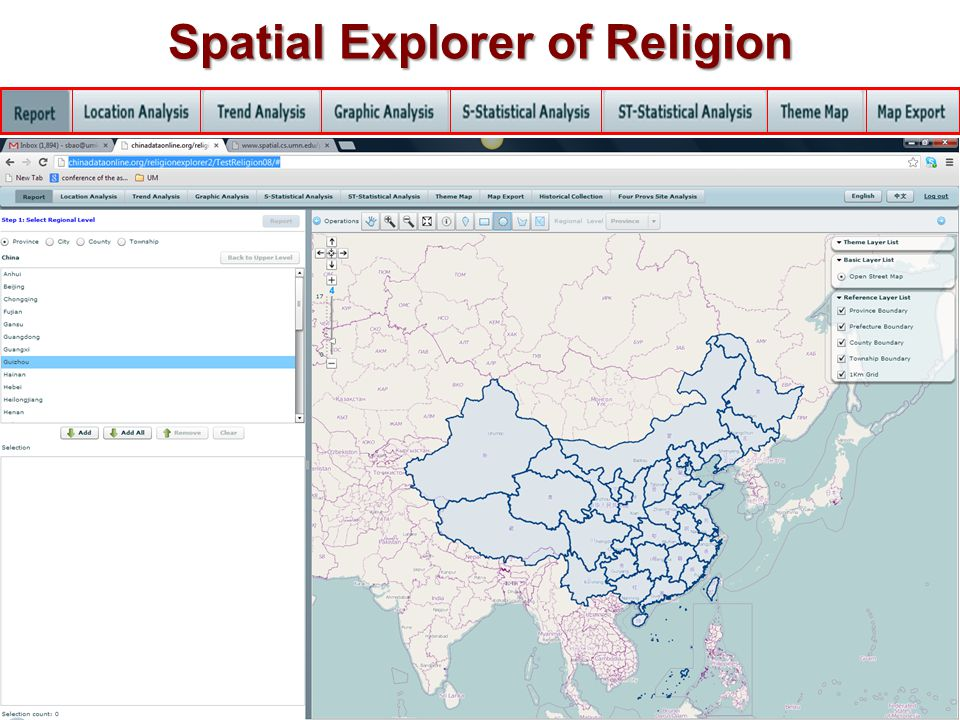 What Is New About Spatial Explorer of Religion.