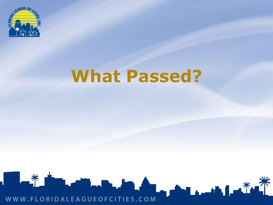 What Passed?