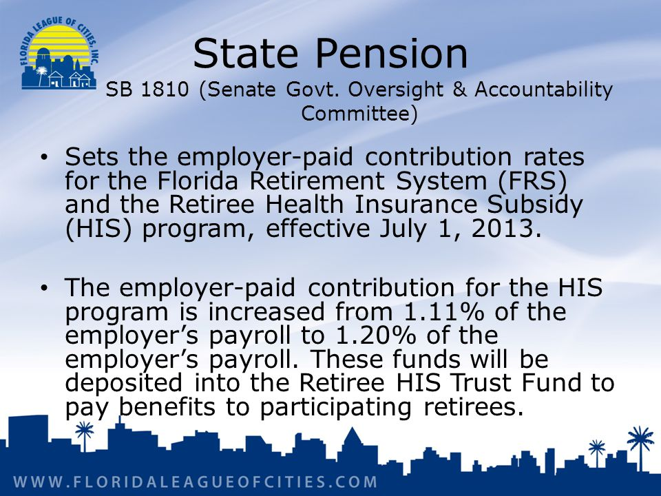 State Pension SB 1810 (Senate Govt.
