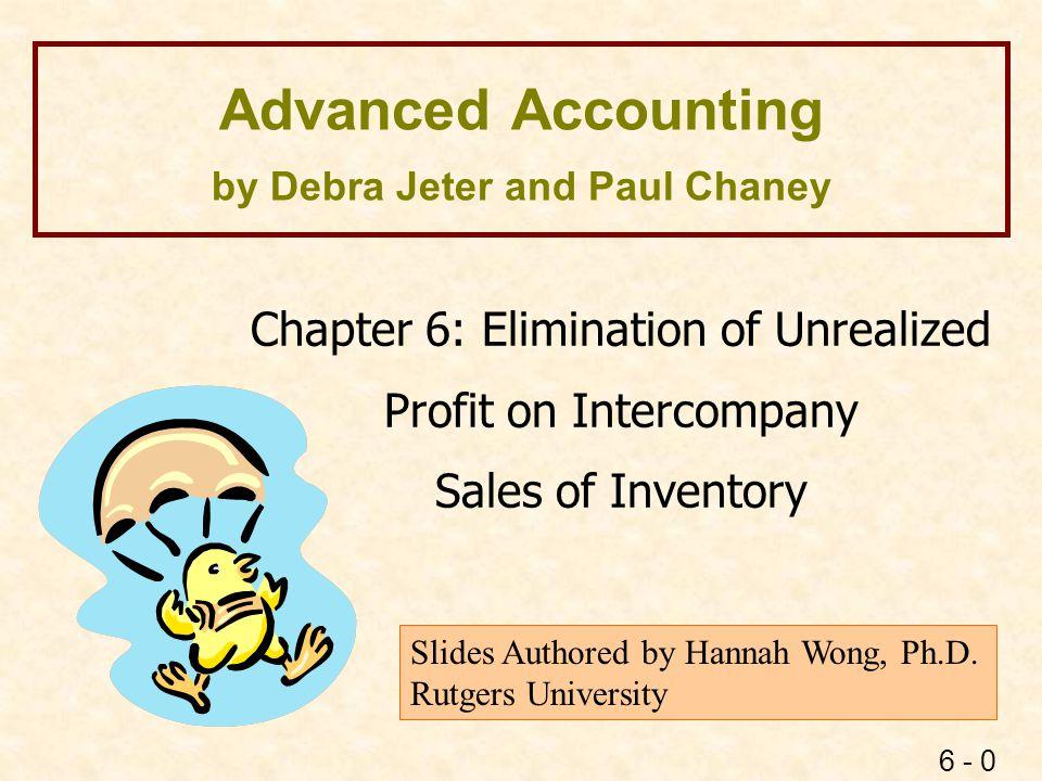 6 - 1 Intercompany Sales of Inventory Parent Company Subsidiary Downstream Sale Upstream Sale Horizontal Sale