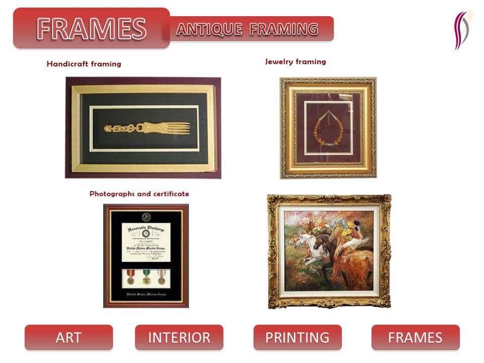 PRINTING INTERIOR FRAMES ART