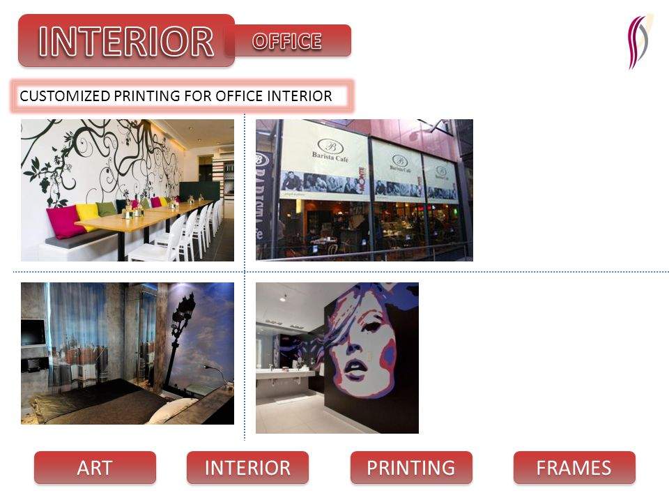PRINTING INTERIOR FRAMES ART CUSTOMIZED PRINTING FOR OFFICE INTERIOR