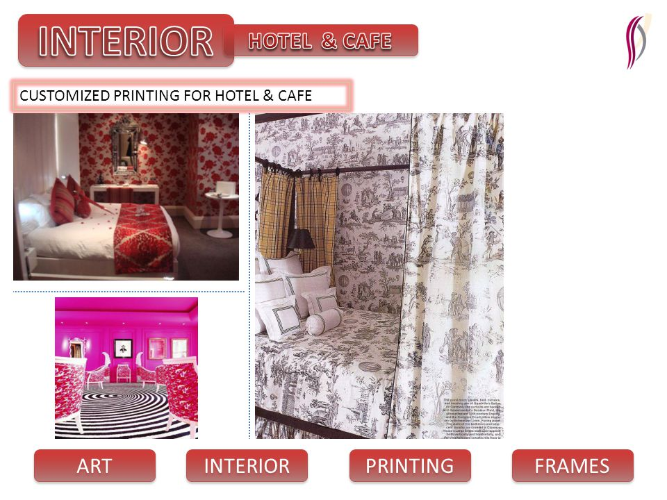 PRINTING INTERIOR FRAMES ART CUSTOMIZED PRINTING FOR HOTEL & CAFE