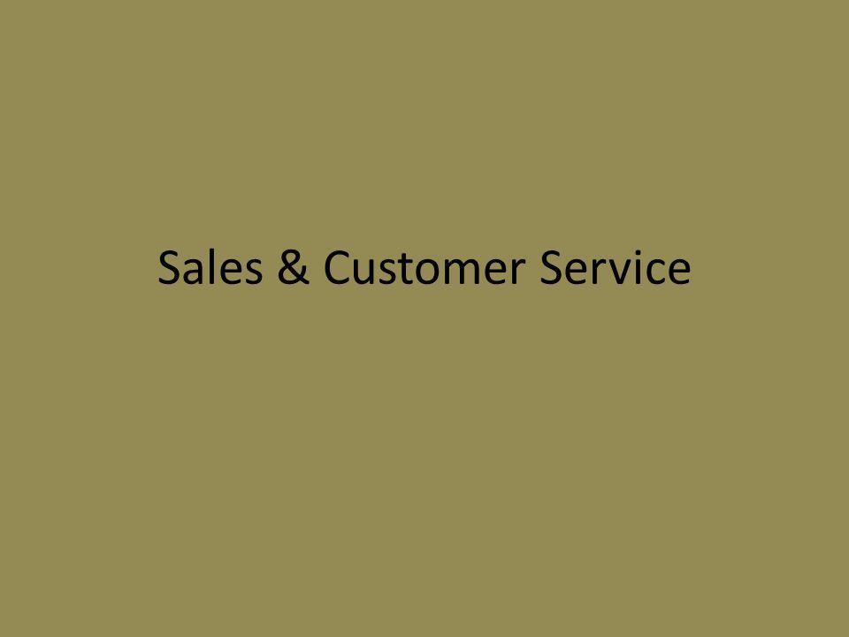 Sales & Customer Service