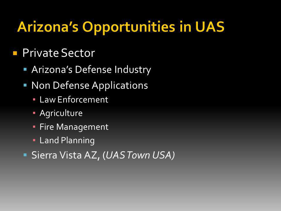 Private Sector Arizonas Defense Industry Non Defense Applications Law Enforcement Agriculture Fire Management Land Planning Sierra Vista AZ, (UAS Town USA)