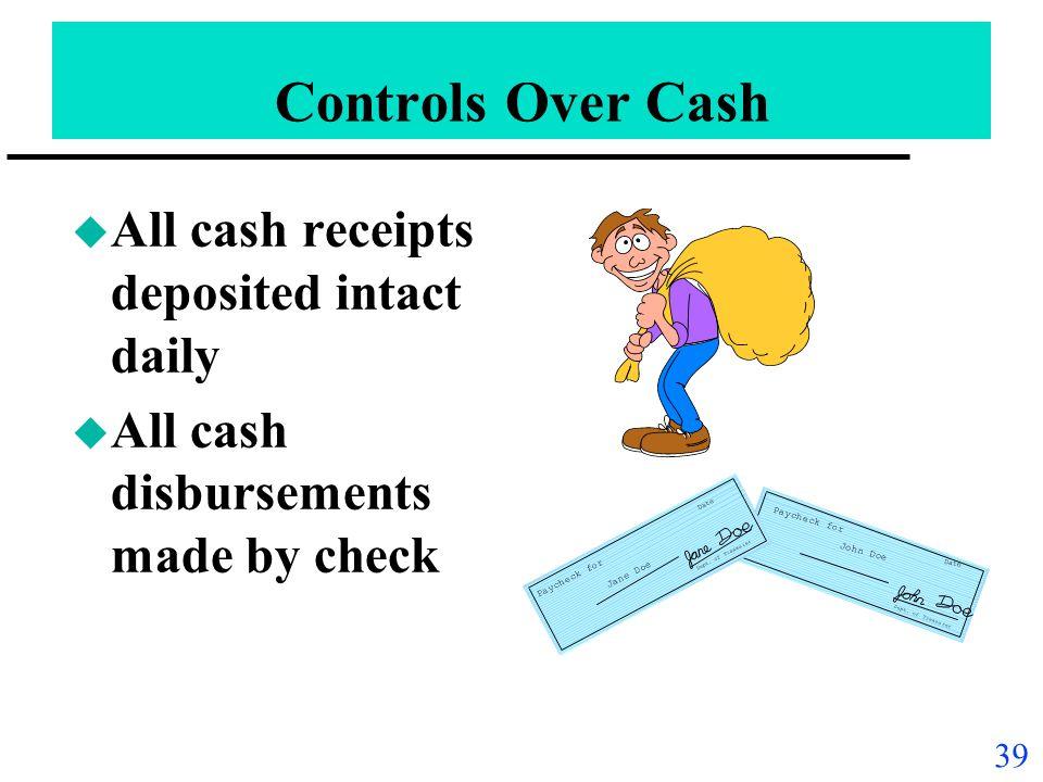 38 Appendix 5A Internal Control for a Merchandising Company