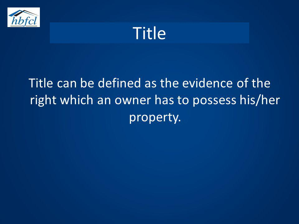 Defected Title A title is said to be defected when there is some absence of legal requisite or deficiency, imperfection or in sufficiency in the evidence or when it is encumbered by other interest.