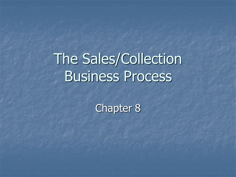 Sales/Collection Process Relationships Fulfillment relationships Fulfillment relationships Between Marketing, Sales Call, or Customer Inquiry and Sale Order events Between Marketing, Sales Call, or Customer Inquiry and Sale Order events Between Sale Order and Sale (or Rental or Service engagement) events Between Sale Order and Sale (or Rental or Service engagement) events Duality relationships Duality relationships Between Sale (or Rental or Service engagement) and Cash Receipt (or Receipt of Bartered Goods/Services) events Between Sale (or Rental or Service engagement) and Cash Receipt (or Receipt of Bartered Goods/Services) events Reversal relationships Reversal relationships Between Sale and Sale Return events Between Sale and Sale Return events Participation relationships Participation relationships Between each event and each internal and external agent Between each event and each internal and external agent