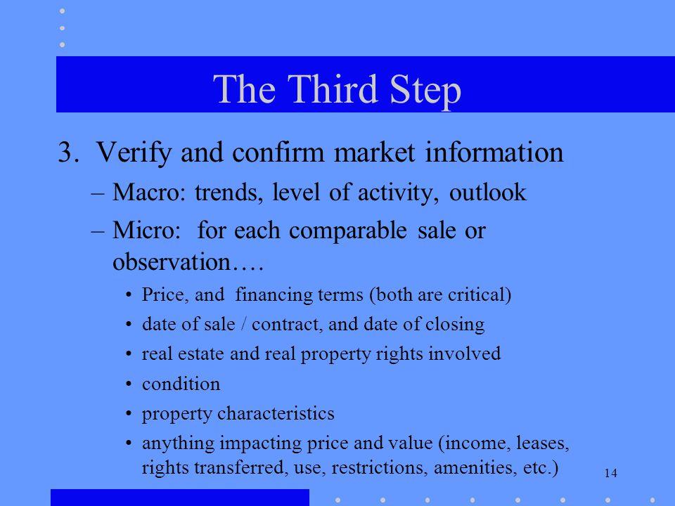 14 The Third Step 3.