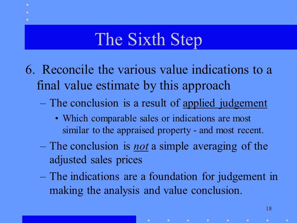 18 The Sixth Step 6.