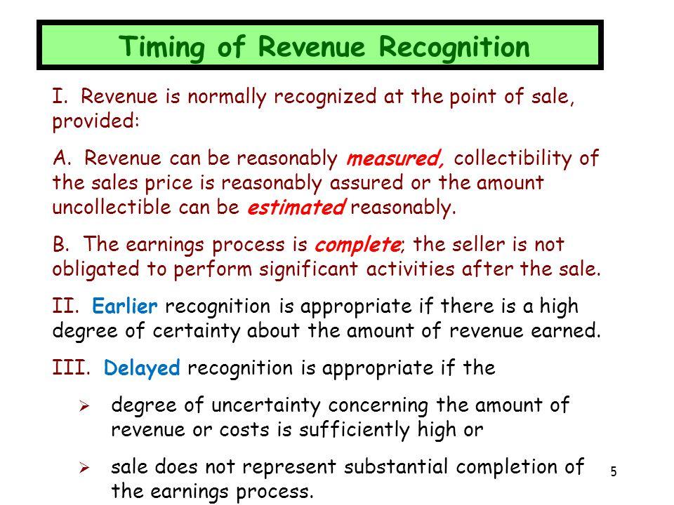 Revenue Recognition Alternatives 6