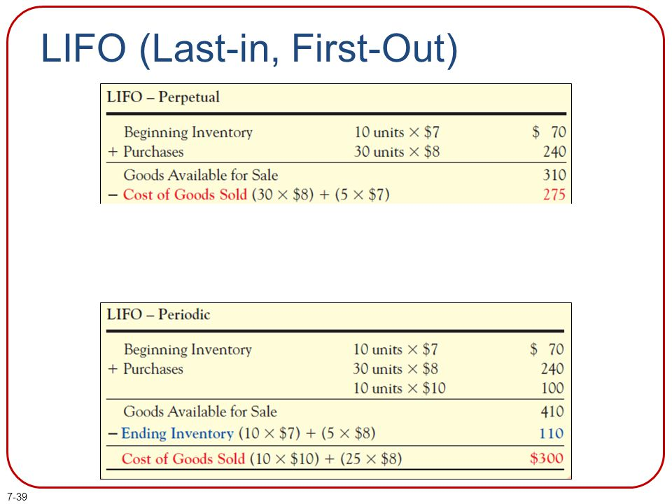 7-39 LIFO (Last-in, First-Out)