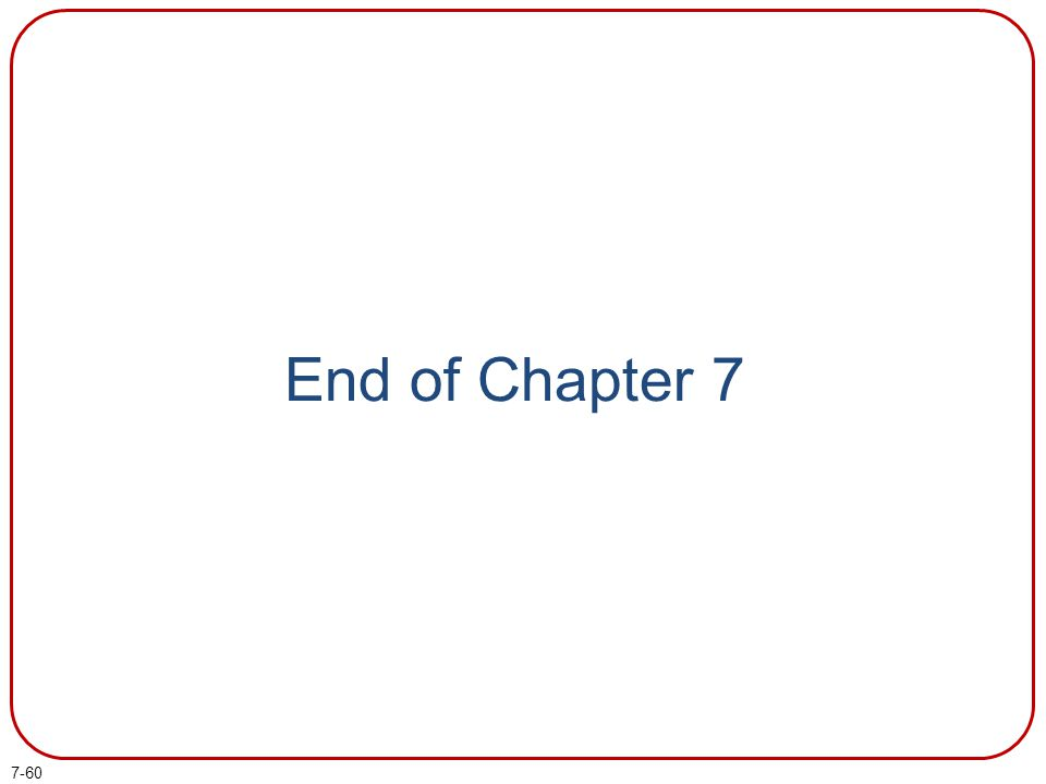 7-60 End of Chapter 7