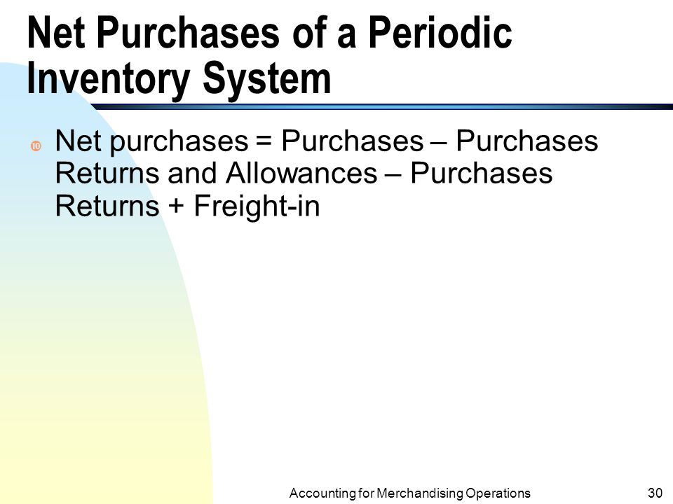 Periodic Inv. System at Purchase with Purchase, Purchase Returns and Allowance and Purchase Discounts (Skip pp29-31) On Feb. 10, $1,000 inventory was