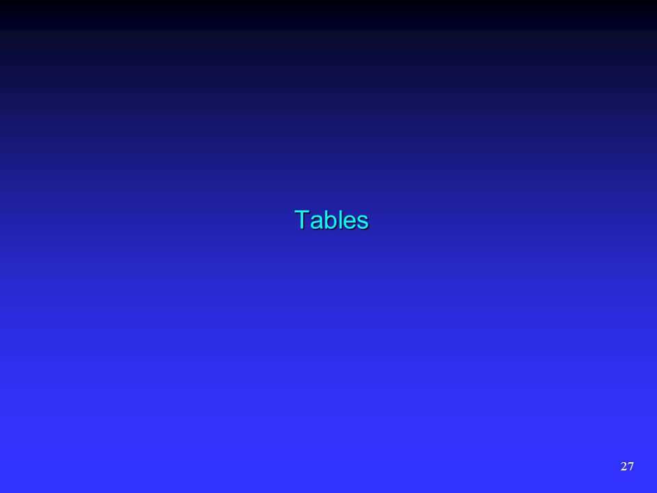 27 Tables
