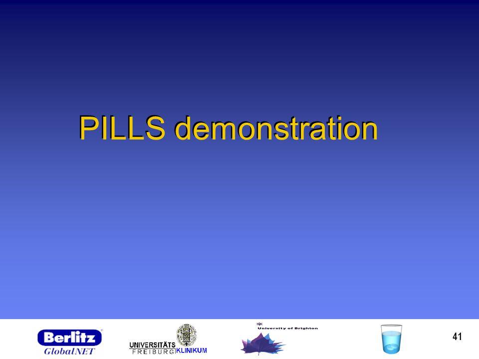 41 PILLS demonstration