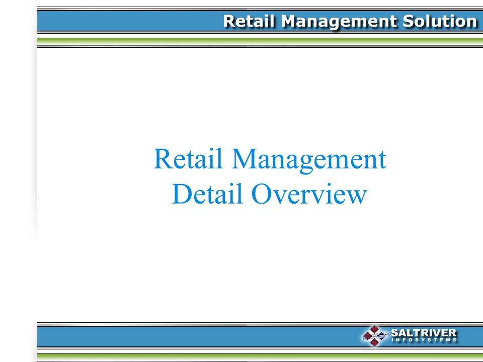 Retail Management Detail Overview