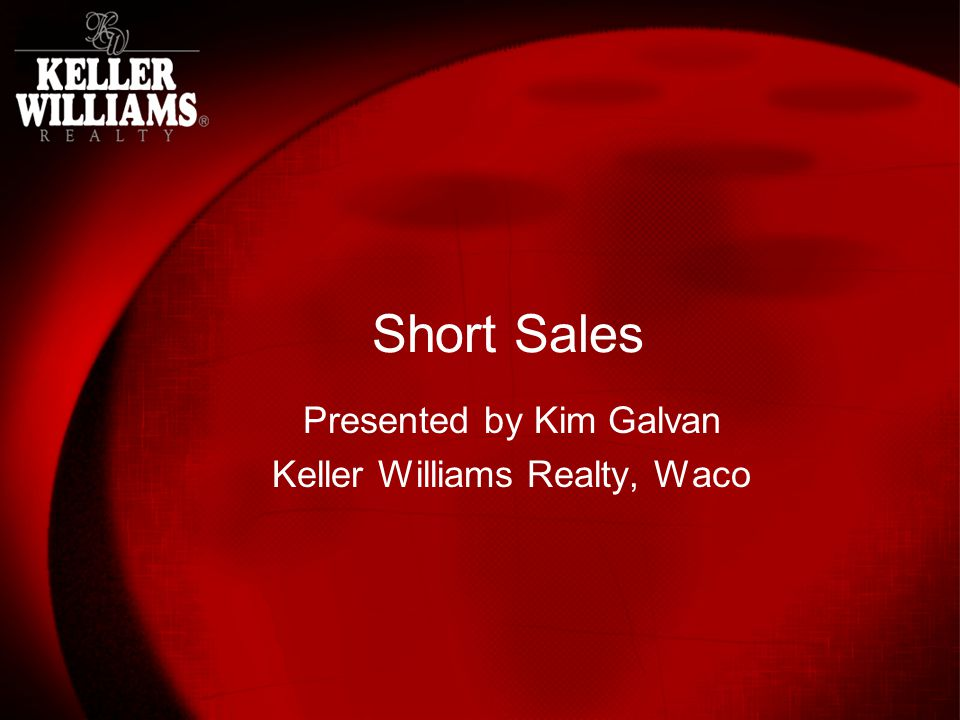 Submitting Short Sale Package Utilize Short Sale Fax Cover Letter each time Only info that will change is info specific to individual transaction (loan #, homeowner(s) name, lender, lenders fax #) Fax it to right person in right department.