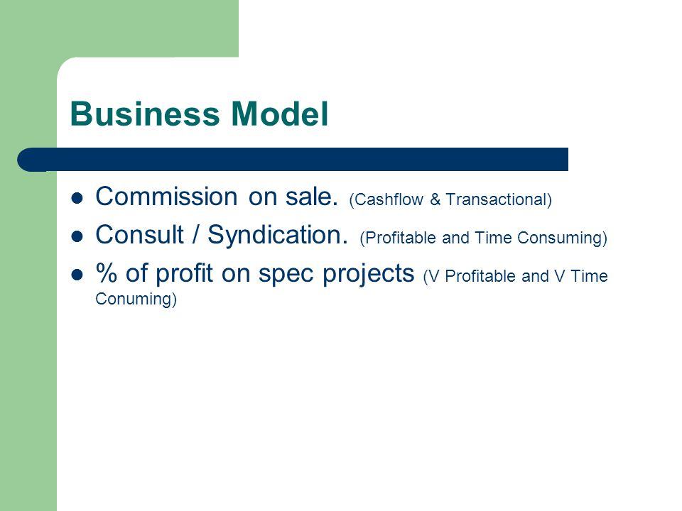 Business Model Commission on sale. (Cashflow & Transactional) Consult / Syndication.