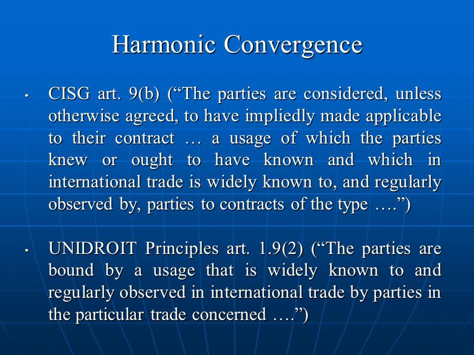 Harmonic Convergence CISG art.