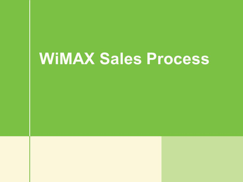WiMAX Sales Process