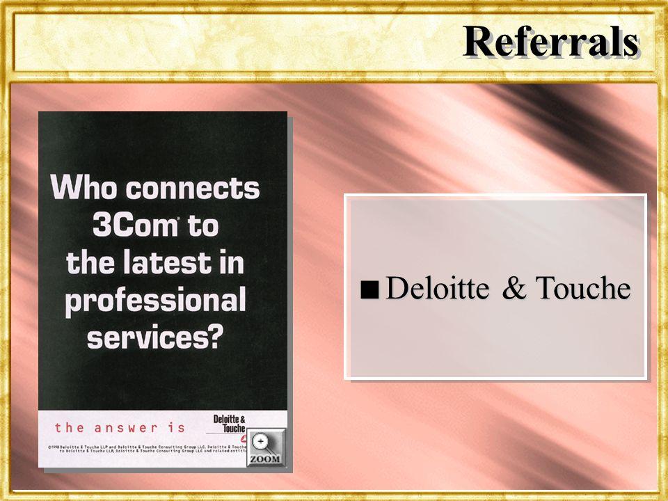 Dr. Rosenbloom n Deloitte & Touche Referrals