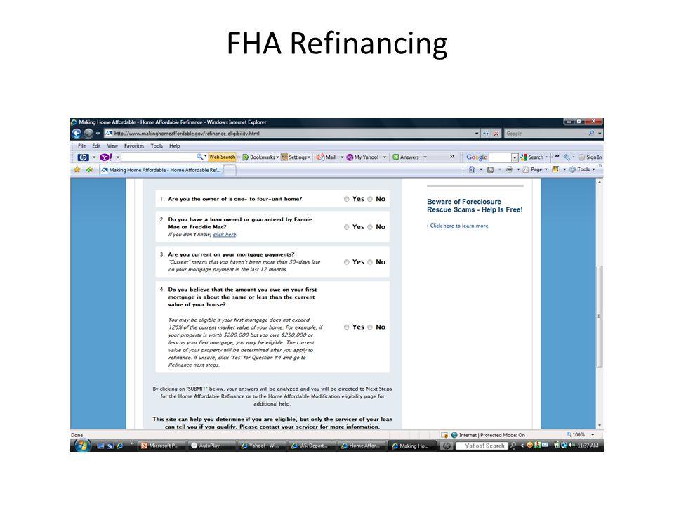 FHA Refinancing