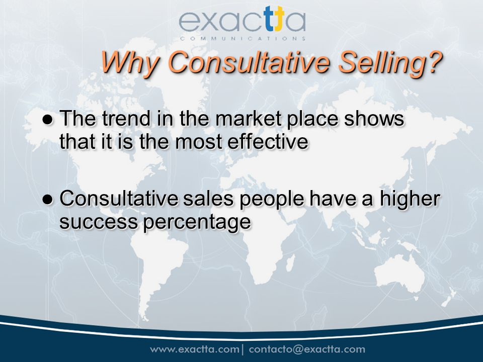 Why Consultative Selling.