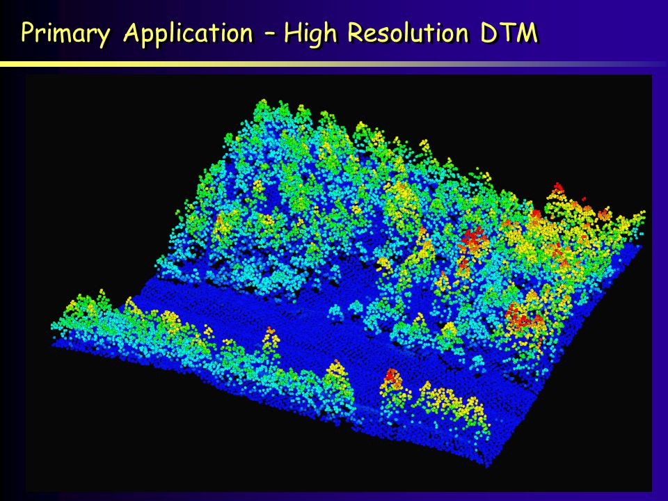 Primary Application – High Resolution DTM