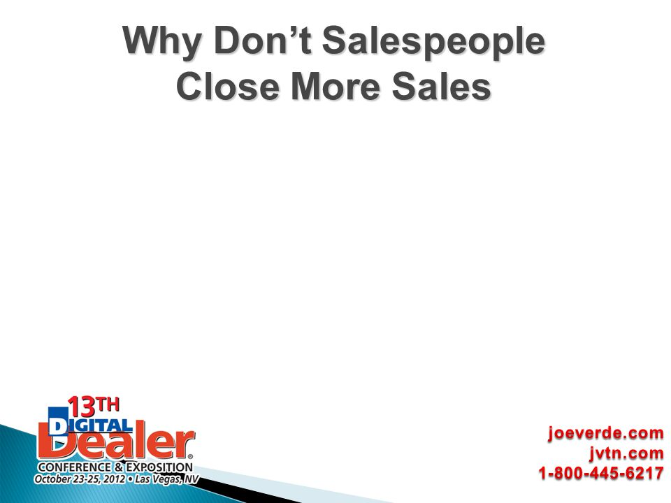 Why Dont Salespeople Close More Sales