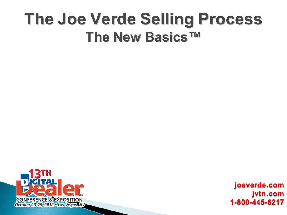 The Joe Verde Selling Process The New Basics