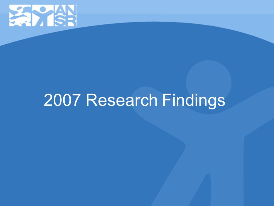 2007 Research Findings