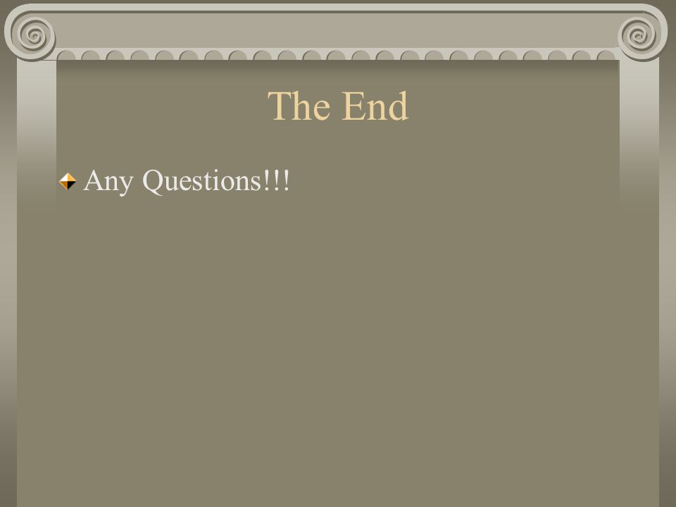 The End Any Questions!!!