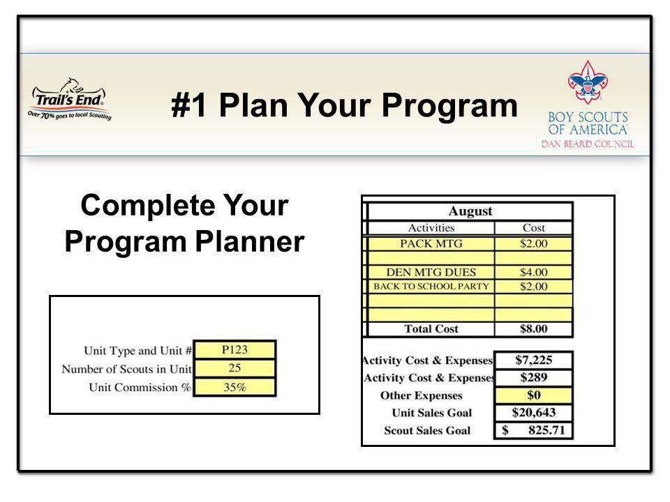 Complete Your Program Planner #1 Plan Your Program