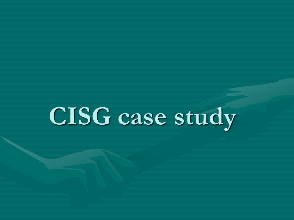 CISG case study