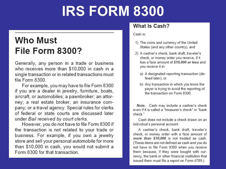 IRS FORM 8300