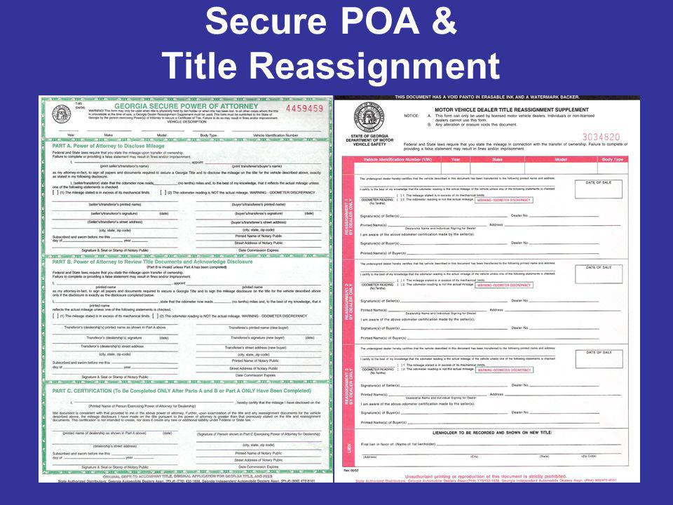 Secure POA & Title Reassignment