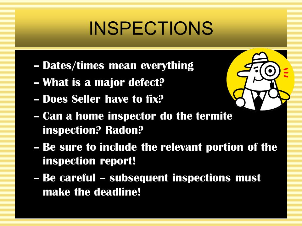 Question 12 Same facts as 11, but now the repairs are termite structural repairs. Is the answer any different?