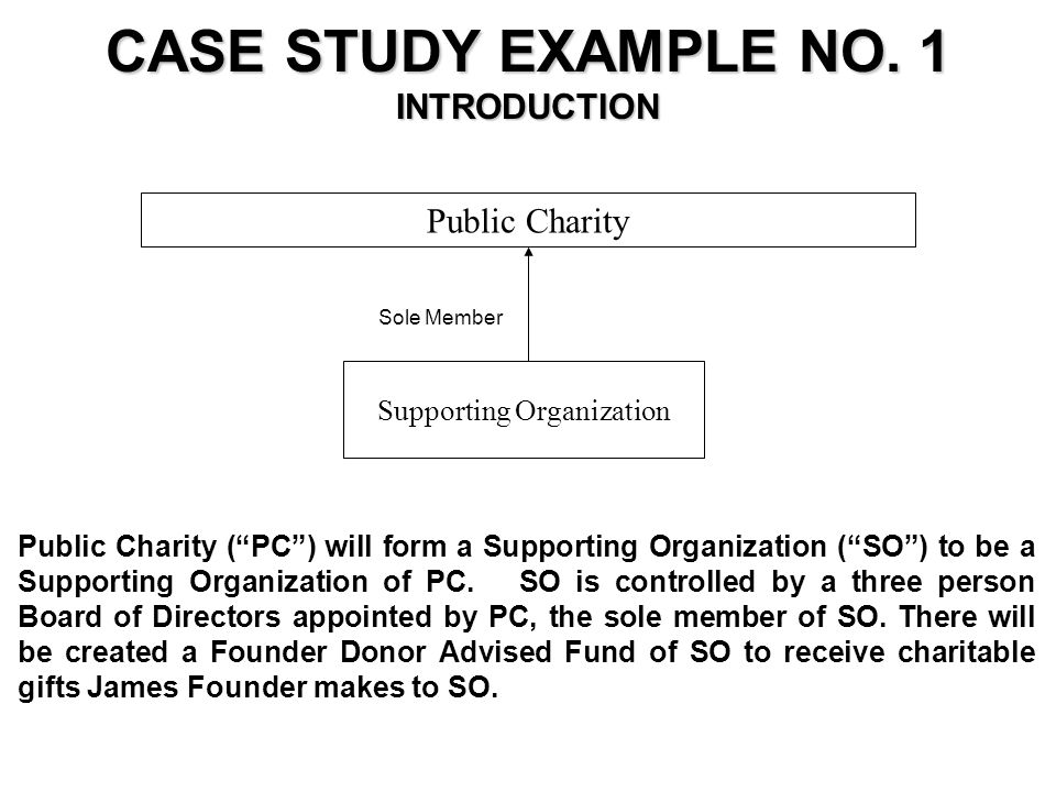 Public Charity (PC) will form a Supporting Organization (SO) to be a Supporting Organization of PC.