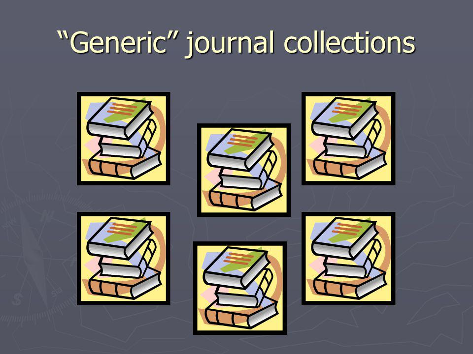 Generic journal collections