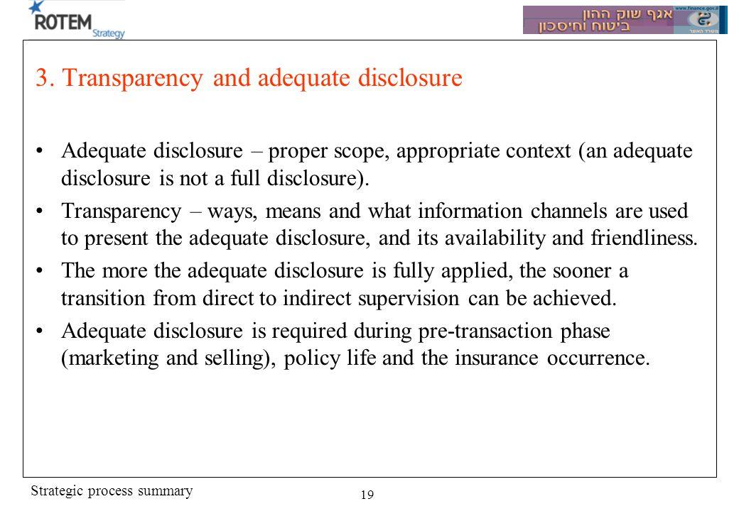 Strategic process summary 19 3.